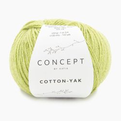 Cotton Yak Katia, Lindgrün, aus Baumwolle
